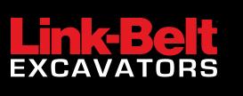 Link Belt Excavators Logo-Black Background
